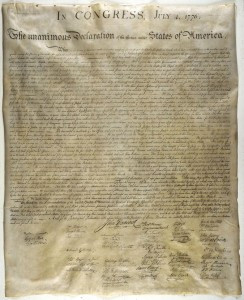 Author's Copy of the Wet Ink Transfer - Declaration of Independence