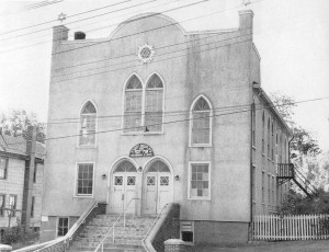 The old Brothers of Joseph Synagogue stood proudly on West Main Street. It was a historic monument to the Jewish community that first settled on the West Side.